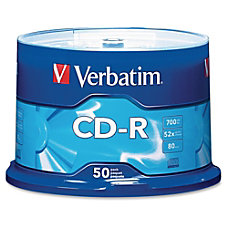 Verbatim CD R Spindle 700MB Pack