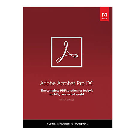 Adobe® Acrobat® Pro DC, 3-Year Subscription