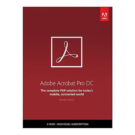 Adobe® Acrobat® Pro DC, 3-Year Subscription