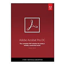 Adobe Acrobat Pro DC 3 Year