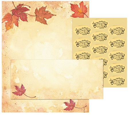 great papers holiday stationery kit fall leaves 8 12 x 11 pack of 25