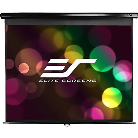 Elite Manual Series M99UWS1 Projection Screen, 99""