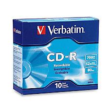 Verbatim High Speed CD R Discs