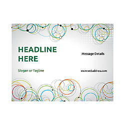 Custom Flyers Horizontal Abstract Circles