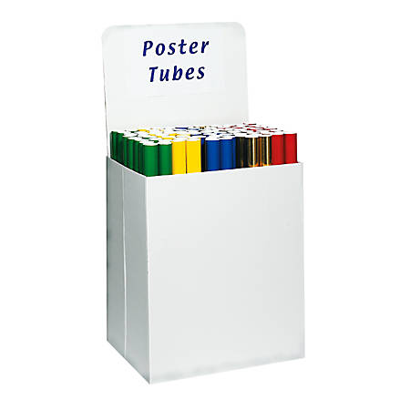 "Large 100% Recycled Corrugated Cardboard Floor Bin Displays, 30""H x 24 3/4""W x 18 3/4""D, White, Pack Of 10"