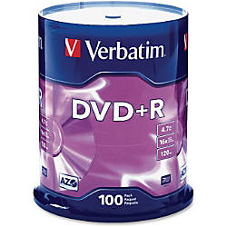 Verbatim AZO DVDR Recordable Media With