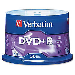 Verbatim DVDR Recordable Media Spindle no
