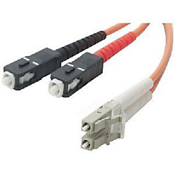 Belkin Duplex Fiber Optic Cable - SC Male - LC Male - 98.43ft
