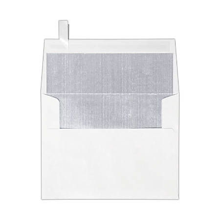 "LUX Invitation Envelopes With Peel & Press Closure, A2, 4 3/8"" x 5 3/4"", Silver/White, Pack Of 250"