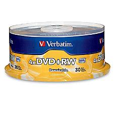 Verbatim DVDRW Rewritable Media Spindle 47GB120