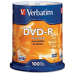 Verbatim DVD R Recordable Media Spindle