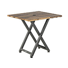 VARIDESK QuickPro Meeting Table Reclaimed Wood