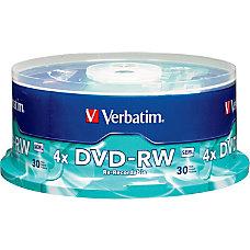 Verbatim DVD RW Rewritable Media Spindle