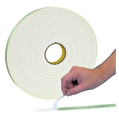 """3M™ 4462 Double Sided Foam Tape, 1"""" x 72 Yd., 1/32"""", White, Case Of 9"""