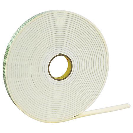 """3M™ 4462 Double Sided Foam Tape, 1/2"""" x 36 Yd., 1/16"""", White, Case Of 18"""