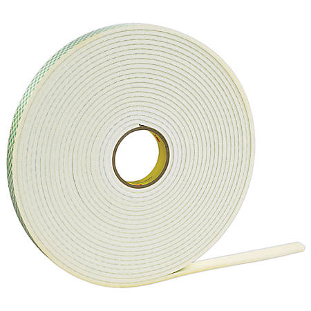 "3M™ 4462 Double Sided Foam Tape, 1"" x 36 Yd., 1/16"", White, Case Of 9"