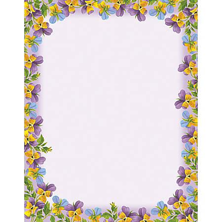 """Gartner™ Studios Design Paper, 8 1/2"""" x 11"""", 60 Lb, Paint Violets, Pack Of 100 Sheets"""
