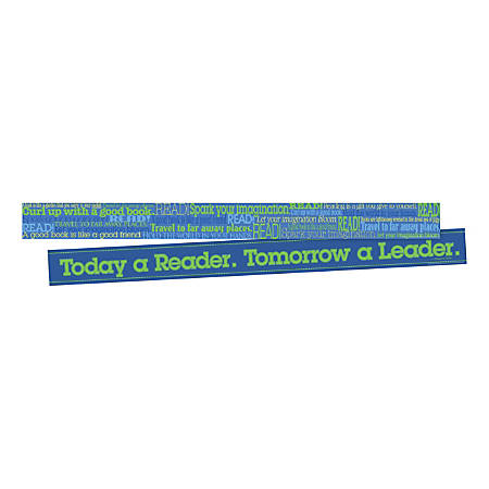 """Barker Creek Double-Sided Border Strips, 3"""" x 35"""", Word Wall Read, Set Of 24"""