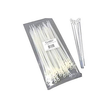 C2G 6in Screw-Mountable Cable Ties - 50pk - Natural - 50 Pack