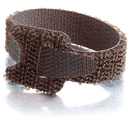 C2G 6in Hook-and-Loop Cable Management Straps - Brown - 12pk - Brown - 12 Pack