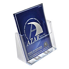 Azar Displays 1 Pocket Plastic Brochure