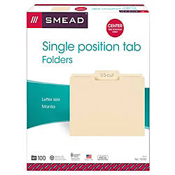 Smead Selected Tab Position Manila File