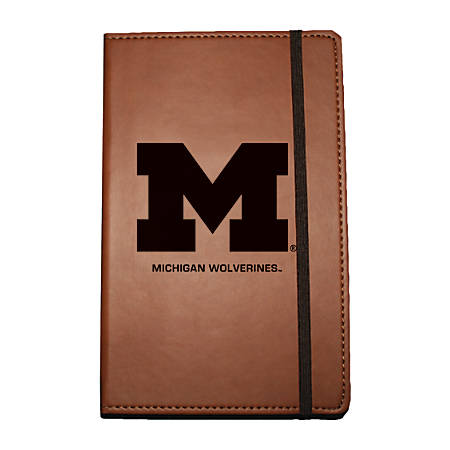 """Markings by C.R. Gibson® Leatherette Journal, 6 1/4"""" x 8 1/2"""", Michigan Wolverines"""