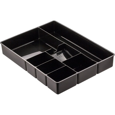 Officemate Deep Drawer Organizer Tray 8 Compartments 2 1 4 H X 15 1 8 W X 11 1 2 D Black Item 316009