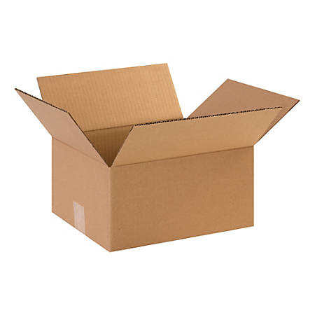 "Office Depot® Brand Corrugated Cartons, 12"" x 10"" x 6"", Kraft, Pack Of 25"