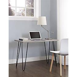 Altra Owen Writing Desk Sonoma OakGunmetal