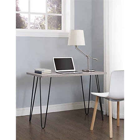 Altra™ Owen Writing Desk, Sonoma Oak/Gunmetal