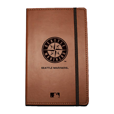 "Markings by C.R. Gibson® Leatherette Journal, 6 1/4"" x 8 1/2"", Seattle Mariners"