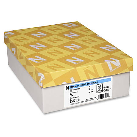Classic Crest Commercial Flap Envelopes - Commercial - #10 - 24lb - Flap - Smooth Finish - 500 / Box - Baronial Ivory