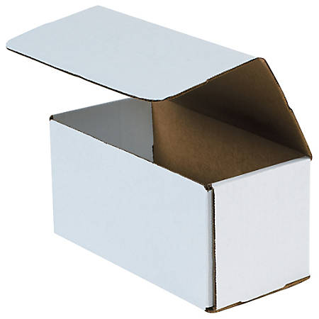 """Office Depot® Brand 12"""" Corrugated Mailers, 5""""H x 5""""W x 12""""D, White, Pack Of 50"""