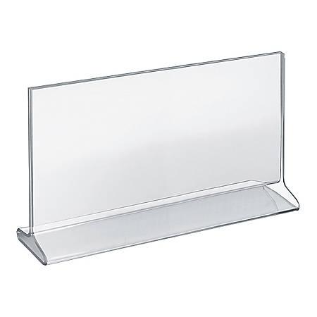 Azar Displays Top-Load 2-Sided Acrylic Horizontal Sign Holders, 7