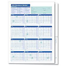 ComplyRight 2020 Attendance Calendar Folders 9