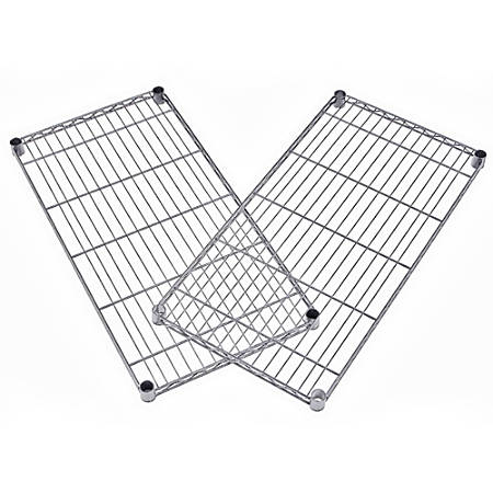 "OFM Extra Wire Shelves For Heavy-Duty Storage Units, 1""H x 36""W x 24""D, Silver, Pack Of 2"