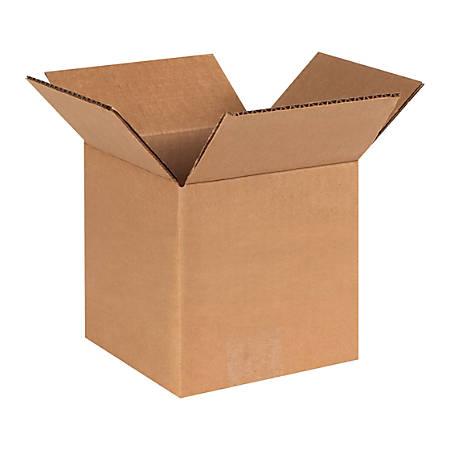 "Office Depot® Brand Heavy-Duty Corrugated Cartons, 6"" x 6"" x 6"", Kraft, Pack Of 25"