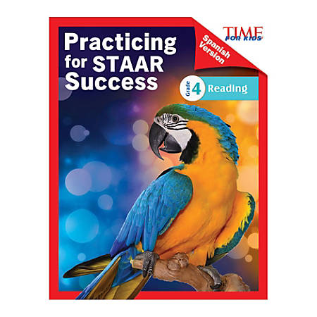 Shell Education TIME For Kids Practicing For STAAR Success: Reading, Level 4, Spanish, Grade 4