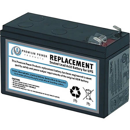 eReplacements Compatible Sealed Lead Acid Battery Replaces APC SLA35, APC RBC35, for use in APC Back-UPS BE350C, BE350G, BE350R-CN, BE350T, BE350U, BE350U-CN, BE359R - Sealed Lead Acid (SLA) Battery
