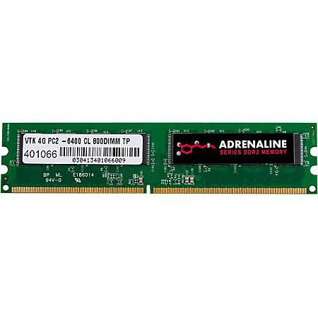 VisionTek 4GB DDR2 800 MHz (PC2-6400) CL5 DIMM - Desktop - 4 GB (1 x 4 GB) - DDR2 SDRAM - 800 MHz DDR2-800/PC2-6400 - 1.80 V - Non-ECC - Unbuffered - 200-pin - DIMM