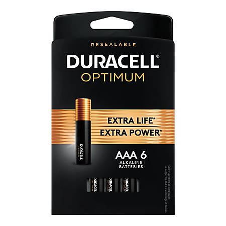 Duracell Optimum AAA Batteries, Pack of 6