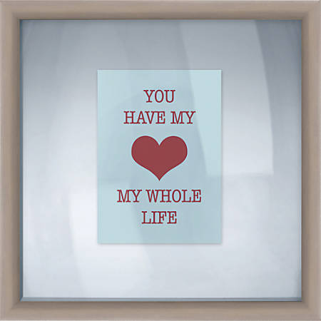 """PTM Images Photo Frame, My Heart, 14""""H x 1 1/4""""W x 14""""D, Silver"""