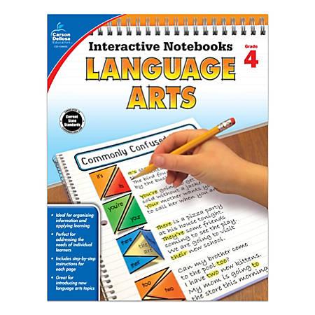 Carson-Dellosa Interactive Language Arts Notebook, Grade 4