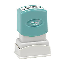 ECO GREEN Xstamper Pre Inked Small