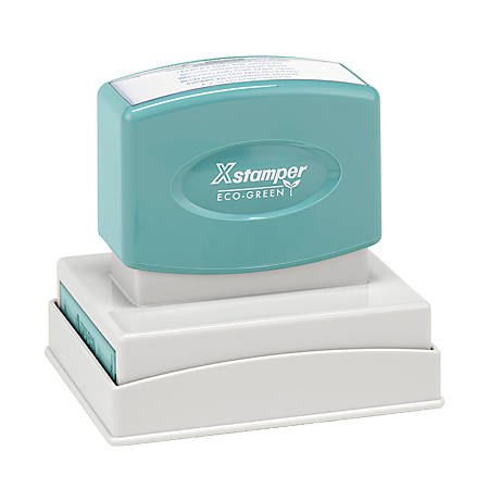 "ECO-GREEN Xstamper® Pre-Inked Medium Stamp, N22, 65% Recycled, 1 15/16"" x 2 15/16"" Impression"