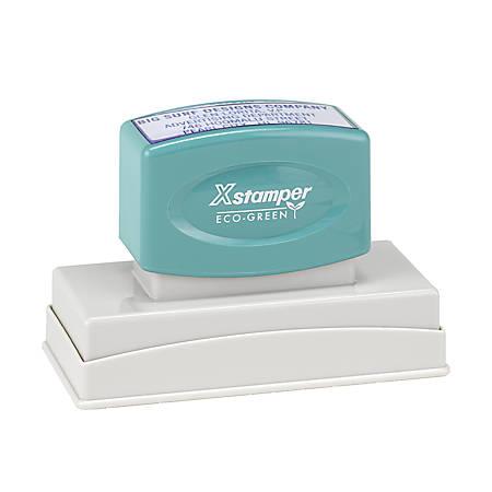 "ECO-GREEN Xstamper® Pre-Inked Medium Stamp, N24, 54% Recycled, 1 1/8"" x 3 1/8"" Impression"