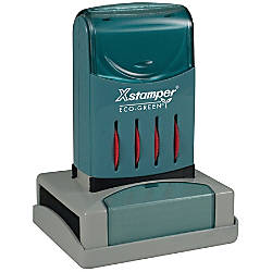 ECO GREEN Xstamper 64percent Recycled Pre