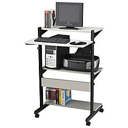 Mayline SOHO Adjustable Computer Workstation GrayBlack