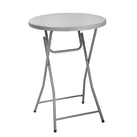 Cosco Zown Classic Collection Folding Cocktail Table Round Gray Item 317284